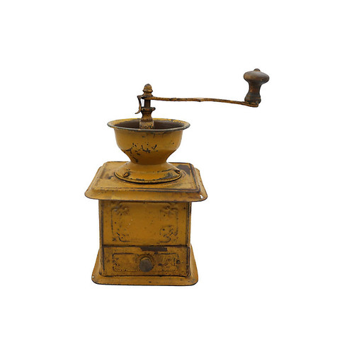 French Tin Coffee Grinder
