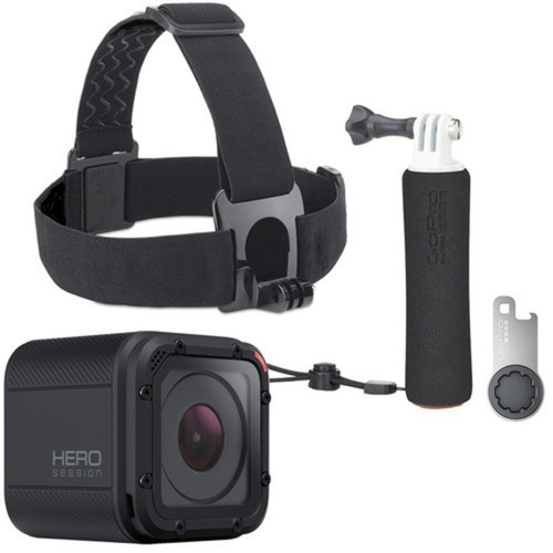 GoPro - HERO Session HD Waterproof Action Camera with The Handler Floating Hand Grip, Head Strap & QuickClip