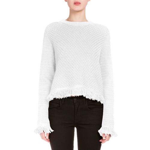 PROENZA SCHOULER Crocheted Fringe-Trim Sweater