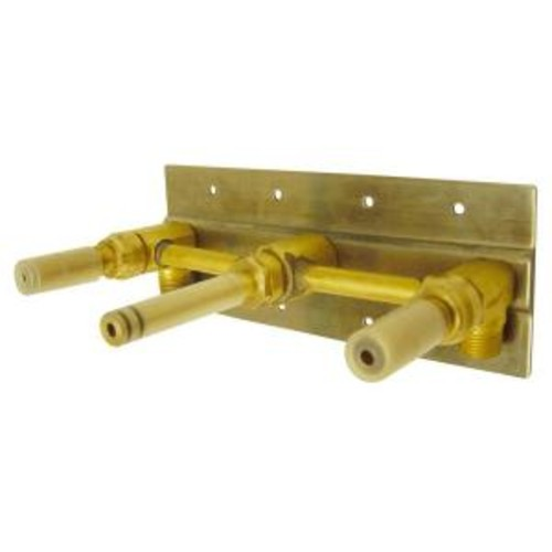 Danze 2-Handle Wall Mount Rough-In Valve with Mounting Plate in Rough Brass