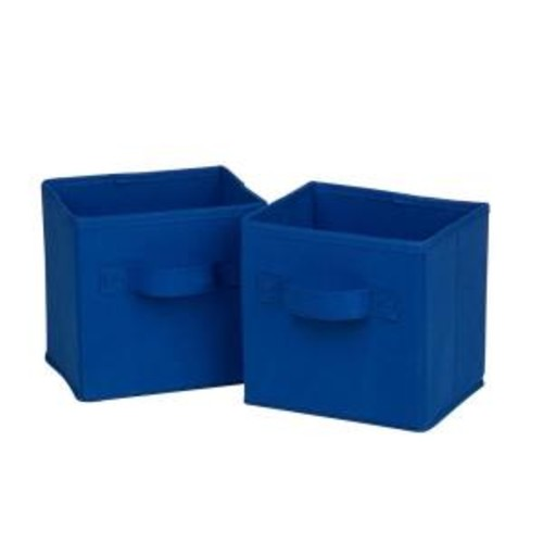 Honey-Can-Do Mini Non-Woven Foldable Storage Cube in Blue (6-Pack)