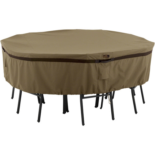 Classic Accessories Hickory Table and Chair Patio Furniture Storage Cover, Round, Small, Tan