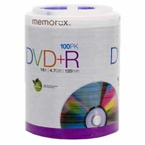 Memorex 4.7GB/120-Minute 16x DVD+R - 100 Discs