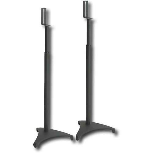 Sanus Systems EF-SATB Euro Foundations Adjustable Satellite Speaker Stands, Black (Pair)