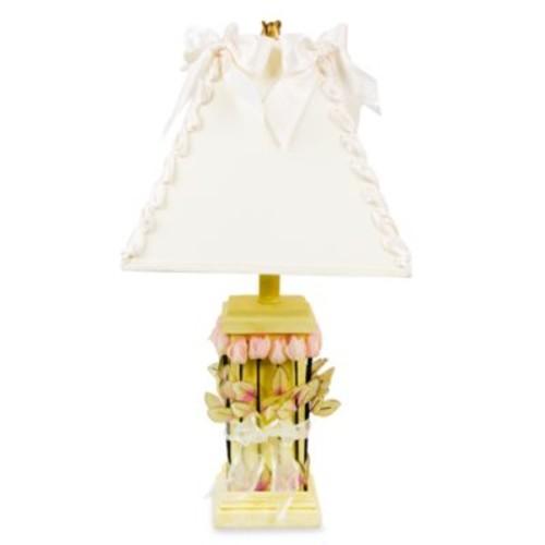 Glenna Jean Roses & Ribbons Yellow Lamp