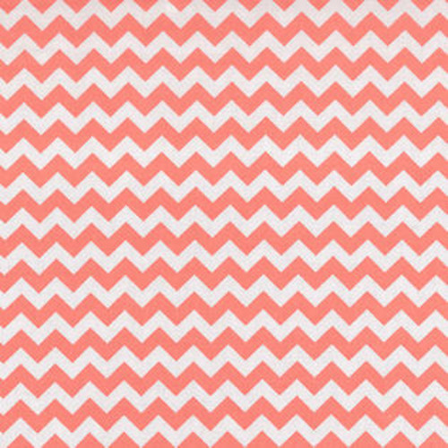 Trend Lab Nursery Kids Baby Diaper Soft Changing Pad Cover Coral Pink And White Chevron