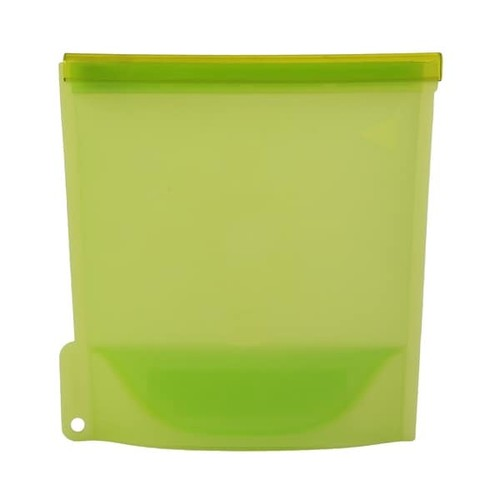 Reusable Green Silicone BPA-free Microwave-safe Eco-friendly Multipurpose Airtight Storage Container