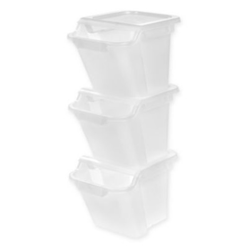 IRIS 18.4 qt. Recycling Bins (Set of 3)