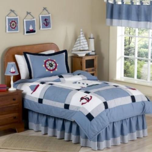 Sweet Jojo Designs Come Sail Away Standard Pillow Sham