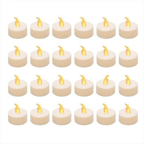 LumaBase Amber LED Tealight Candle 24-piece Set