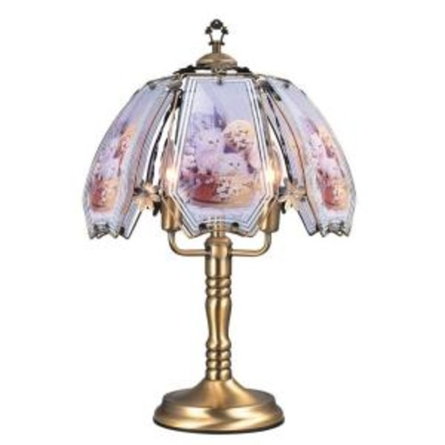 ORE International 23.5 in. Cats Brushed Gold Touch Lamp
