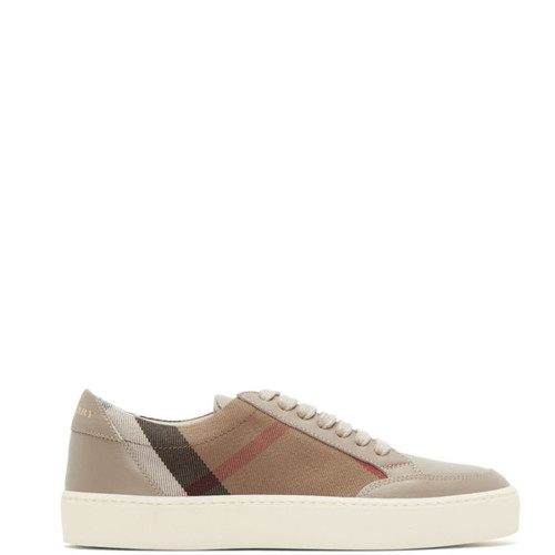 BURBERRY Taupe Salmond Check Sneakers