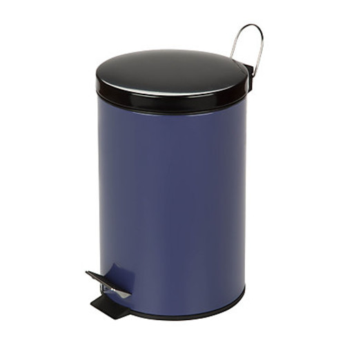 Honey-Can-Do Steel Step Trash Can, 3.2 Gallons, Purple