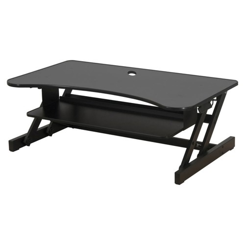 Lorell Deluxe Sit-To-Stand Desk Riser, Black