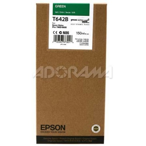 Epson T642B00 UltraChrome HDR Green Resin Ink Cartridge f/Stylus Pro 7900 & 9900 T642B00