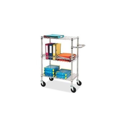 Lorell 3-tier Rolling Carts - 4 Caster - Steel - 18