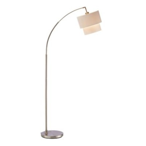 Adesso Gala Arc Floor Lamp, Satin Steel