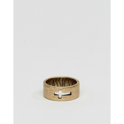 Classics 77 Burnished Cross Band Ring In G
