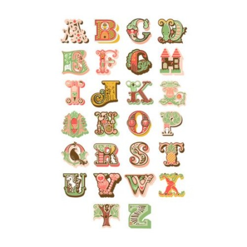 Alphabet Paper Print
