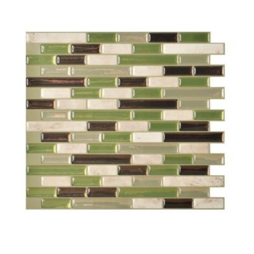 Smart Tiles Muretto Eco 10.20 in. W x 9.10 in. H Peel and Stick Decorative Mosaic Wall Tile Backsplash (6-Pack)