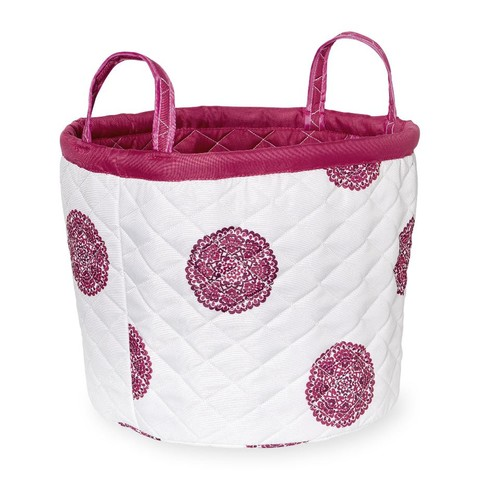 Koala Baby Quilted Medallion Hamper - Pink/Purple