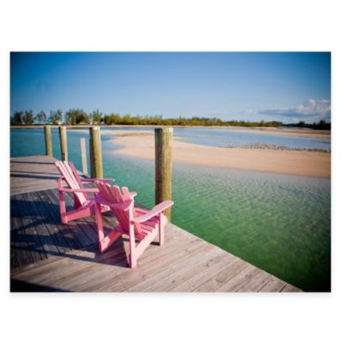 Pink Chairs All Weather Outdoor Canvas Art