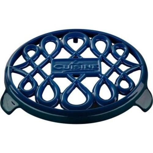 La Cuisine Cast Iron Non-slip Blue Trivet