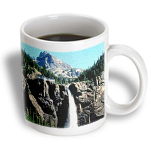 3dRose - Sandy Mertens Colorado - Bride Veil falls Near Telluride in Canvas - 11 oz mug