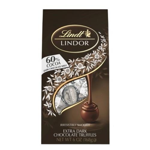 Lindt Lindor 60% Cocoa Dark Chocolate Truffles - 6oz