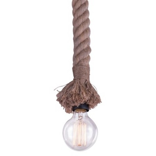 Rustic Woven Rope Ceiling Lamp - ZM Home