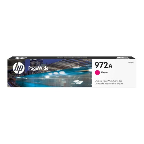 HP Inc. 972A - 35.5 ml - magenta - original - PageWide - ink cartridge - for PageWide MFP 377; PageWide Pro 452, 477, 552, 577 (L0R89AN)
