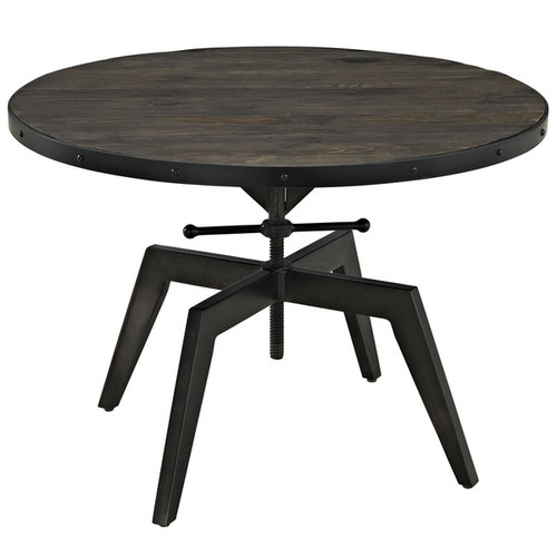 Modway Coffee, Console, Sofa & End Tables Grasp Wood Top Coffee Table in Black