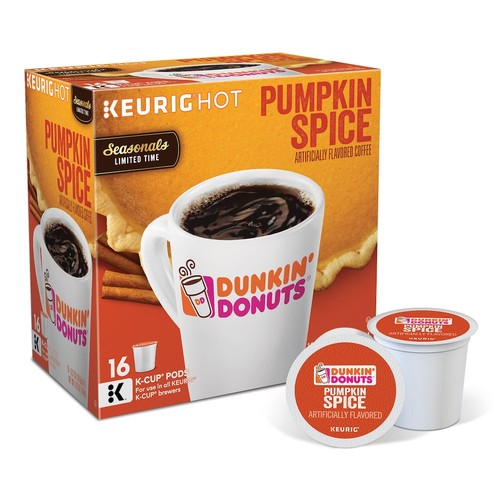 Keurig K-Cup Pack 16-Count Dunkin' Donuts Pumpkin Spice Coffee