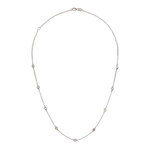 Neiman Marcus Diamonds 14k By-The-Yard Floating Nine Diamond Station Necklace