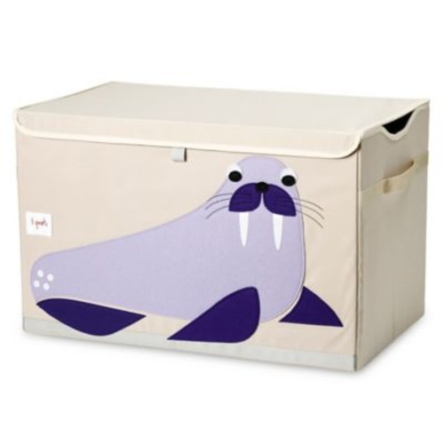 3 Sprouts Walrus Toy Chest in Purple