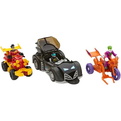 Imaginext DC Super Friends Gift Set - Batman, Robin & Joker with Vehicles