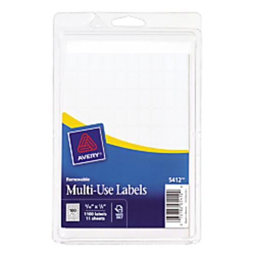 Avery Removable Inkjet/Laser Multipurpose Labels, 5/16