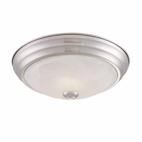 EnviroLite Brushed Nickel LED Flushmount with Alabaster Glass