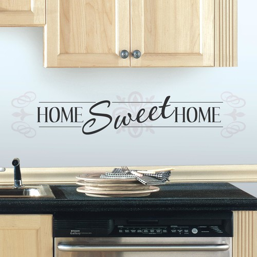 RoomMates Home Sweet Home Peel and Stick Wall Decals