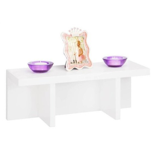 Honey Can Do Sectioned Wall Shelf, White