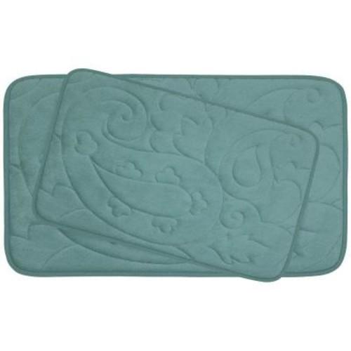 BounceComfort Pelton Marine Blue Memory Foam 2-Piece Bath Mat Set