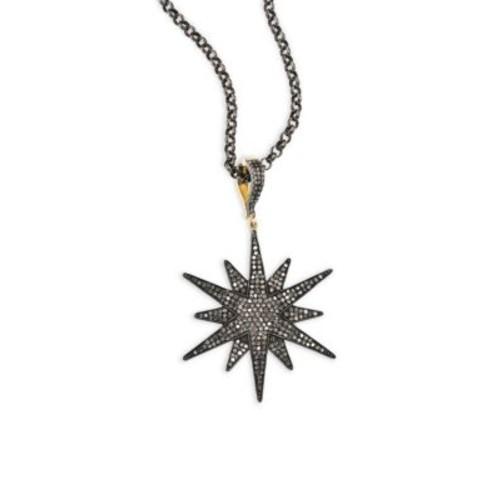 Champagne Diamond Starburst Pendant Necklace