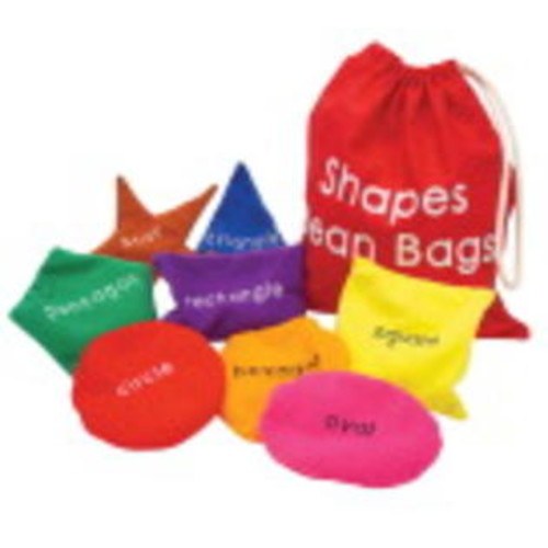 Learning Resources Bean Bags Shapes St/8