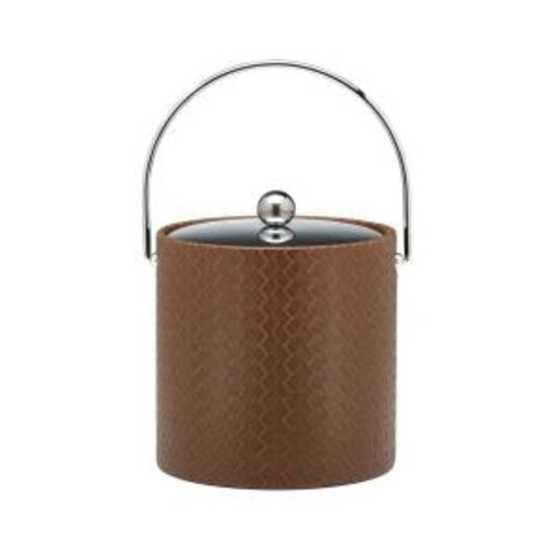 Kraftware San Remo Pinecone 3 Qt. Ice Bucket with Bale Handle, Metal Lid