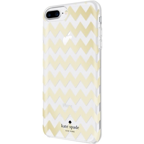 kate spade new york - Case for Apple iPhone 7 Plus - Clear/chevron gold foil