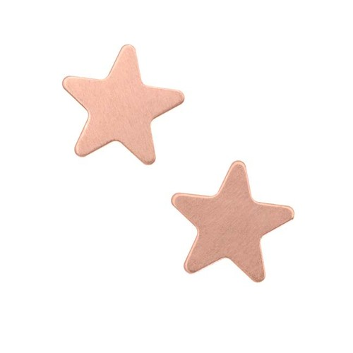 Solid Copper Stamping Blank (No Hole) Star Shape 12mm (2)