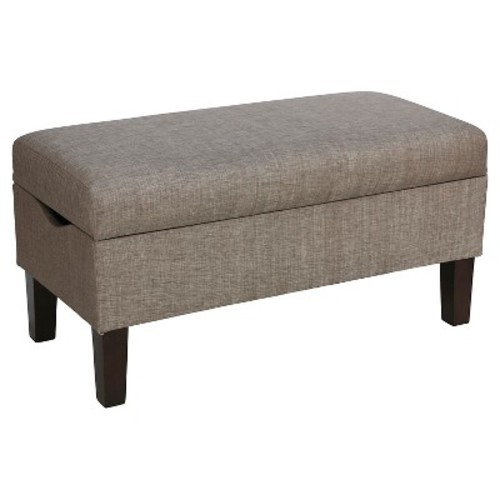 Bedroom Metallic Upholstered Storage Bench - Skyline