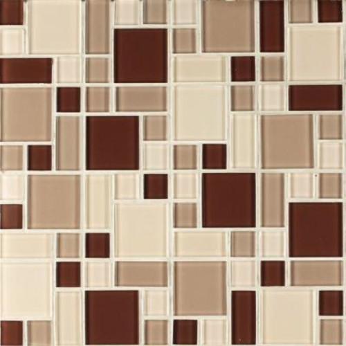 Instant Mosaic Peel and Stick Glass Wall Tile - 3 in. x 6 in. Tile Sample