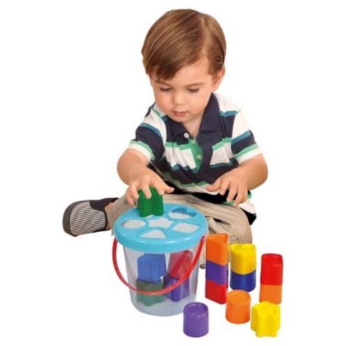 Pavlov'z Toyz Colorful Shape Sorting Bucket