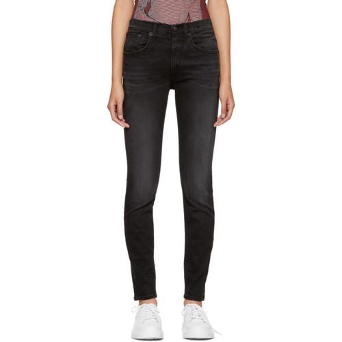 R13 Black High-Rise Skinny Jeans